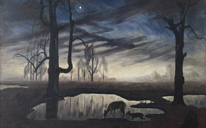 Картинка Charles Ephraim Burchfield, The Evening Star, 1923-26