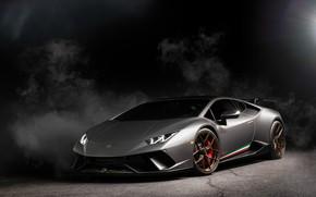 Картинка Lamborghini, Light, Smoke, Gray, VAG, Performante, Huracan, Sight, LED, Darknes