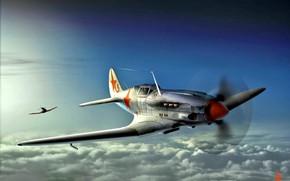 Картинка СССР, МиГ-3, Высотный перехватчик, ПВО ВВС РККА, Двигатель АМ-35А