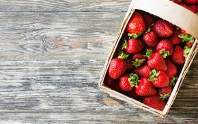Картинка ягоды, клубника, лукошко