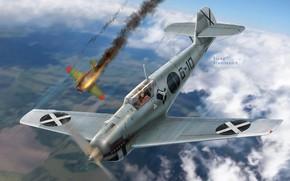 Картинка Messerschmitt, И-16, Bf-109, Legion Condor, Гражданская война в Испании, Jagdgruppe 88, Bf.109B