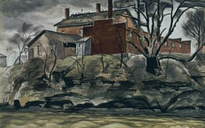 Картинка 1932, Charles Ephraim Burchfield, Rock Creek Bank