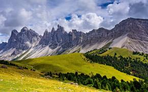Картинка облака, горы, Италия, Trentino-Alto Adige