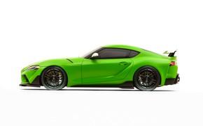 Картинка Toyota, вид сбоку, Supra, 2019, GR Supra, A90, SEMA 2019, Wasabi Concept