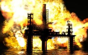 Картинка вода, металл, огонь, конструкция
