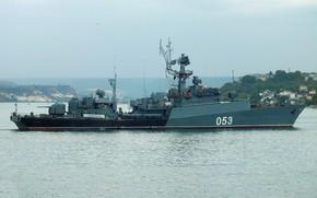 Картинка корабль, противолодочный, малый, проект 1124-М, Поворино