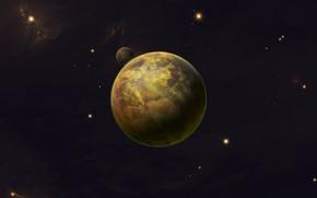 Картинка Звезды, Планета, Космос, Star Wars, Stars, Space, Спутник, Planet, The Old Republic, Satellite, Science Fiction, …