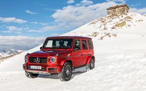 Картинка зима, авто, снег, Mercedes-Benz, AMG, G-класс, G 350
