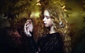 Картинка бабочки, девочка, Sonia Paola Frias
