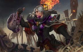 Картинка gun, warhammer, girls, haos, warhammer 40 000, sisters of battle, warhammer 40.000, warp, xenos