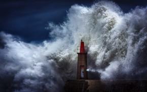 Картинка шторм, стихия, волна