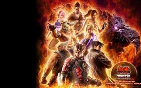 Картинка фон, пламя, персонажи, Tekken 6 Bloodline Rebellion