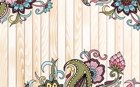 Картинка цветы, фон, узор, текстура, wood