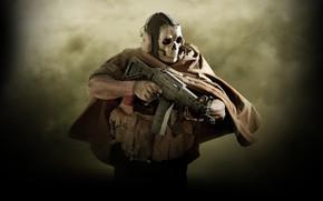 Картинка оружие, маска, солдат, Call of Duty, Call of Duty: Modern Warfare