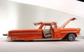 Картинка Chevrolet, Orange, Lowrider, Nomad, Custom car, 1958 Year