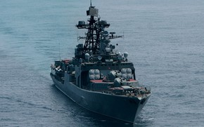 Обои вмф, проект 1155, большой противолодочный корабль, адмирал виноградов