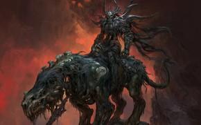 Картинка Fantasy, Art, Death, Rider, Russell Dongjun Lu, by Russell Dongjun Lu, Death Rider