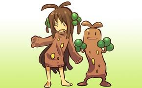 Картинка девочка, girl, каменный, косплей, покемон, pokemon, хуманизация, судовудо, sudowoodo, земельный