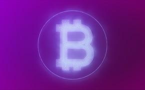 Картинка фон, сиреневый, лого, logo, fon, bitcoin, биткоин, btc