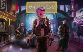 Картинка rpg, video game, night city, CD Projekt RED, Cyberpunk 2077, Cyberpunk