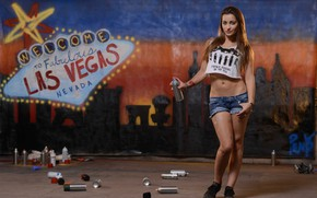 Картинка girl, graffiti, model, las vegas, pornostar, dani daniels