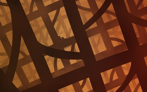 Картинка абстракция, космонавт, лабиринт
