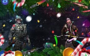 Картинка Снег, Карта, Нож, Конфеты, Операция, Пулемет, Новый год, Елка, Оружие, Ножи, Christmas, Candy, Valve, Snow, …