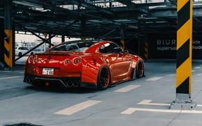 Картинка Красный, Авто, Машина, Тюнинг, Red, Car, Nissan GT-R, Transport & Vehicles, Widebody Workshop, by Widebody …
