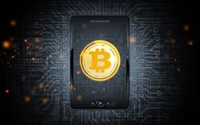 Картинка лого, монета, осветление, mobile, bitcoin, биткоин, btc