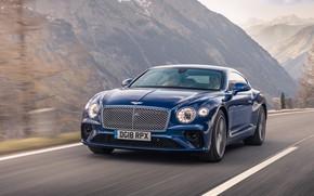 Картинка Bentley, Continental, 2018, Bentley Continental GT, Sequin Blue