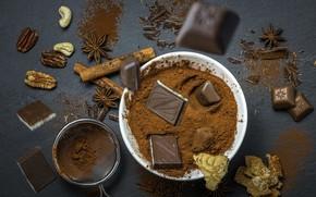 Картинка еда, шоколад, какао