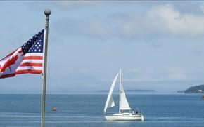 Картинка USA, nature, flag