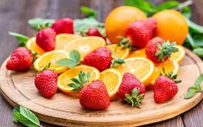 Картинка ягоды, апельсины, клубника