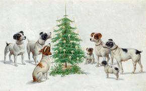 Картинка Рождество, Christmas, Austrian painter, австрийский живописец, oil on board, Carl Reichert, Карл Райхерт