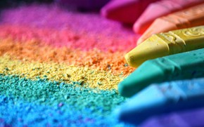 Картинка макро, цветные, мелки, крошка