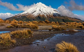 Картинка гора, Новая Зеландия, New Zealand, Таранаки
