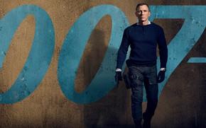 Картинка триллер, боевик, агент 007, Дэниел Крейг, No Time To Die, Не время умирать