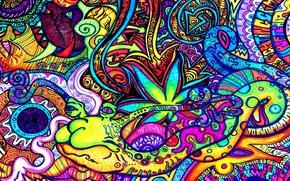 Картинка яркие краски, буквы, узор, скорость, acid, орнамент, фигуры, pattern, speed, сплетения, letters, кислота, пси, bright …