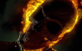 Картинка огонь, череп, демон, demon, Ghost Rider, Marvel, призрачный гонщик, Ghost Rider: Spirit of Vengeance, антигерой, …