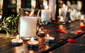 Картинка фон, свечи, банка
