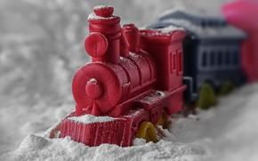 Картинка макро, игрушка, поезд