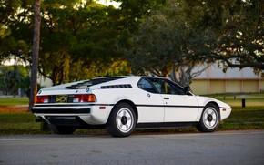 Картинка белый, BMW, BMW M1, E26, M1, правым боком