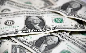 Картинка USA, Купюры, Деньги, George Washington, Валюта, Доллары, Dollars, Джордж Вашингтон, Крупным Планом, Пачки США, Банкноты