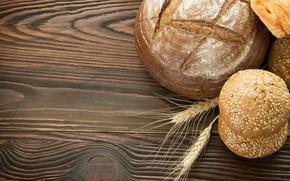 Картинка колоски, хлеб, кунжут, булочки