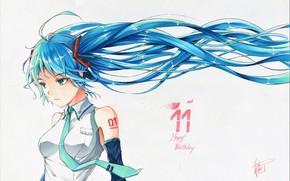 Картинка Hatsune Miku, Vocaloid, Вокалоид, Хатсуне Мику
