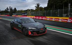 Картинка движение, Audi, купе, трек, 2020, RS e-Tron GT Prototype