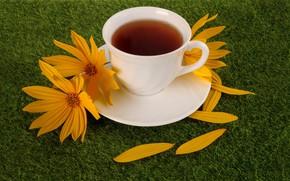 Картинка чай, чашка, цветки