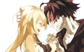 Картинка девушка, радость, парень, двое, Ангел кровопролития, Satsuriku no Tenshi