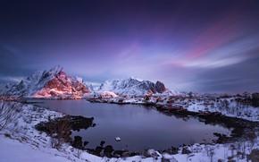 Картинка горы, Норвегия, Лофотенские острова