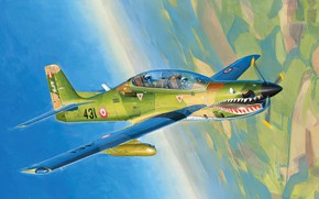 Картинка art, airplane, aviation, A29 Tucano